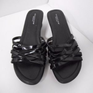 Kenneth Cole Reaction Black Multistrap Wedge 7.5 M